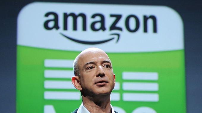 Amazon-Chef Jeff Bezos: Laut Medienberichten entwickelt der Online-Händler eine Settop-Box für Fernseher.
