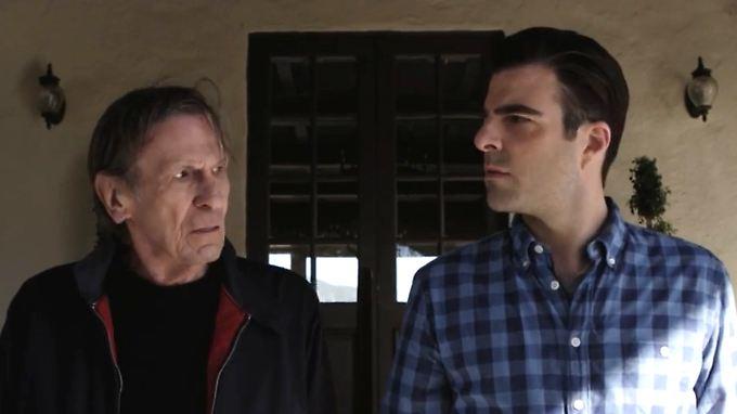 Zweimal Spock: Nimoy (l.) und Quinto.