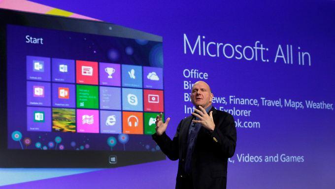 Erst im vergangenen Oktober stellte Microsoft-Chef Steve Ballmer Windows 8 vor.