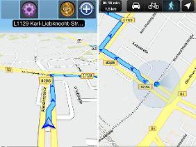"""""""GPS Navigation 2+"""" kann fast ein richtiges Navi ersetzen."""