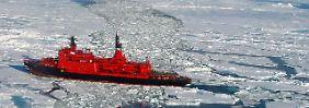 Wettlauf mit der Zeit: Der Eisbrecher soll Ende Mai aus dem Hafen von Murmansk auslaufen. Er ist zehn Tage unterwegs.