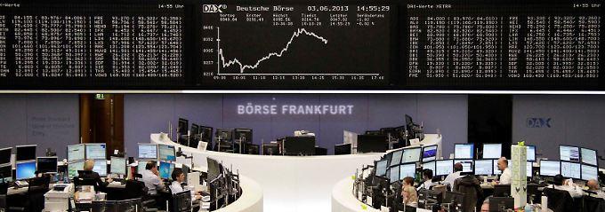 Juni-Handel an der Frankfurter Börse: Der Dax startet schwach, bäumt sich am Nachmmittag auf und ... geht mit Verlusten in den Feierabend.