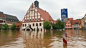 Land unter in Grimma.