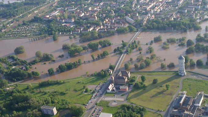 Die neuen Hochwasserschutzanlagen bewahren Eilenburg vor einem Hochwasser wie 2002.