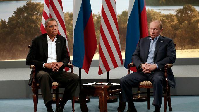 Barack Obama und Wladimir Putin bei einer Pressekonferenz zum Auftakt des G8-Gipfels.