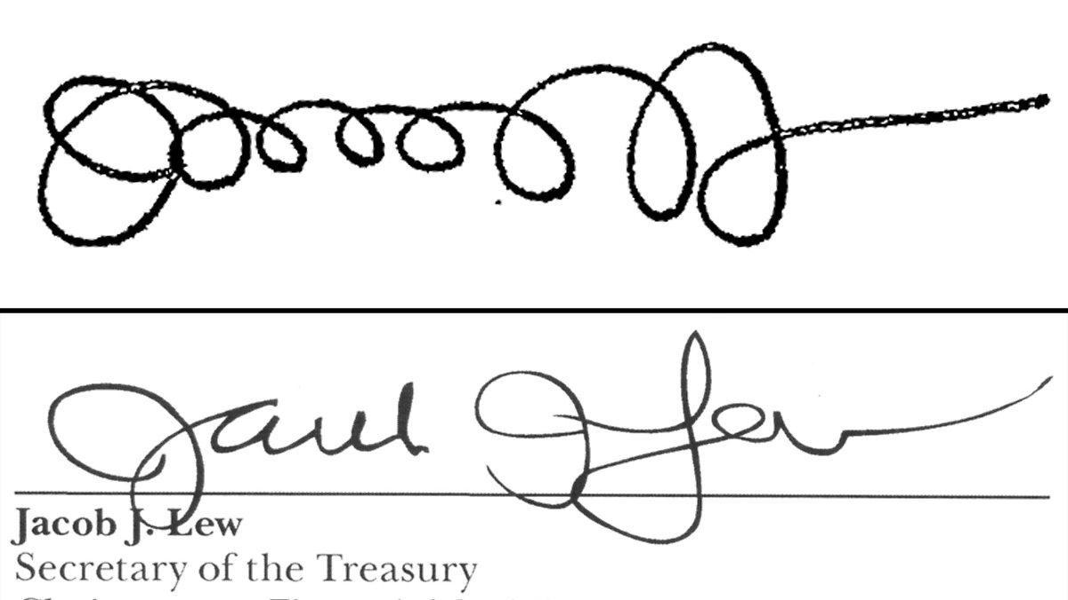 Unterschrift Auf Geldscheinen