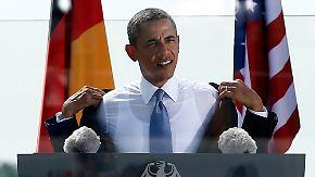 Obama vor dem Brandenburger Tor: Abrüstungspläne begeistern Berliner Publikum