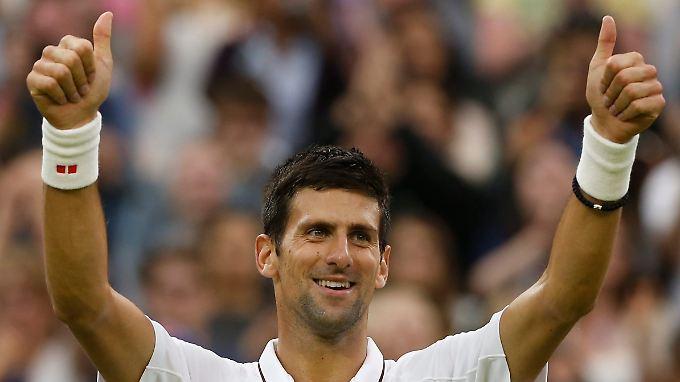 Novak Djokovic hat seinen Gegner aus den USA im Griff.