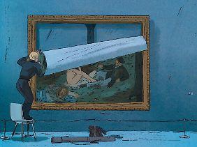 Beliebte Beschäftigung von Alex und Carole: Großformatige Gemälde aus Pariser Museen klauen.
