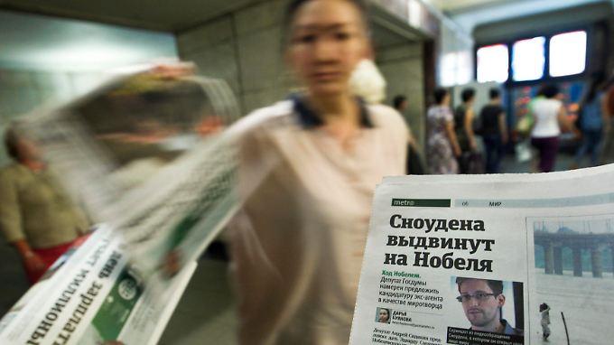 In einem Moskauer U-Bahnhof: Snowden hat unter anderem auch in Russland um Asyl gebeten.