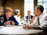 Kanzlerin Merkel und US-Präsident Obama bei einem privaten Essen in Washington 2011: Sie betonen immer wieder ihr gesundes Verhältnis.