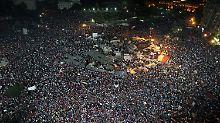 Der Tahrir-Platz ist fest in der Hand der Mursi-Gegner.