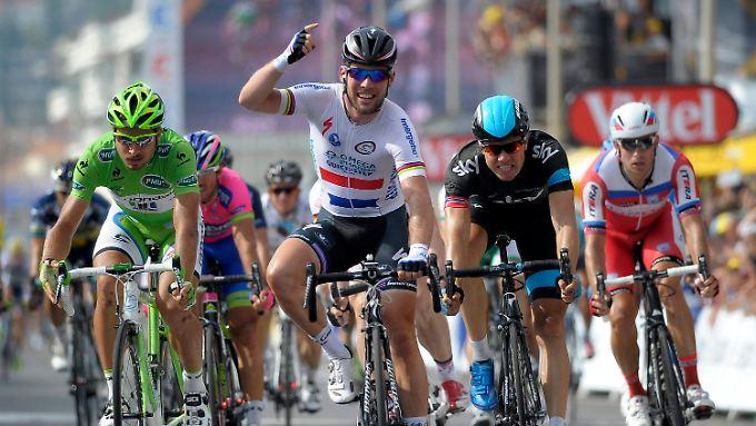 Als Erster im Ziel von Marseille: Sprintstar Mark Cavendish.