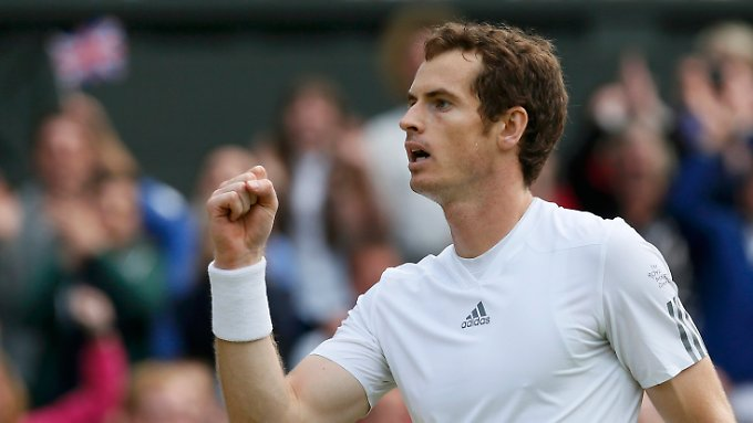 Andy Murray musste sich ganz schön strecken, um weiterzukommen.