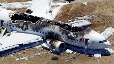 Bilder einer Katastrophe: Flugzeugcrash in San Francisco