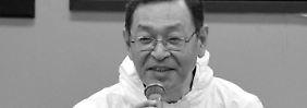 Monate nach Reaktorunglück erkrankt: Ex-Chef von Fukushima stirbt an Krebs