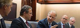 Auch der amerikanische Vizepräsident Joe Biden gab sich bei Friedrichs Stelldichein die Ehre.