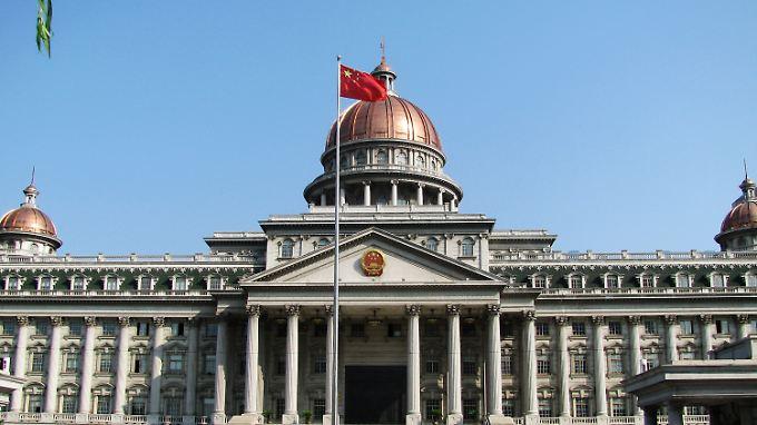 Erinnert - wohl nicht zufällig - an das Kapitol in Washington: Gerichtsgebäude in Jiangyin.