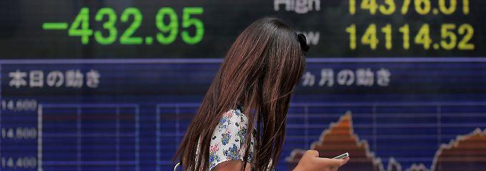 Fast 433 Punkte verloren: Der Nikkei muss vor dem Wochenende schwer büßen.