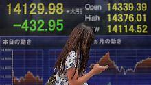 Schwere Kursverluste in Japan: Nikkei schließt tiefrot