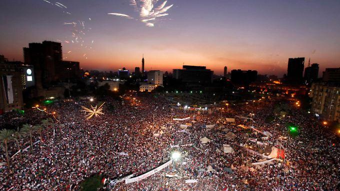 Zehntausende Demonstranten gingen in Ägypten auf die Straße.