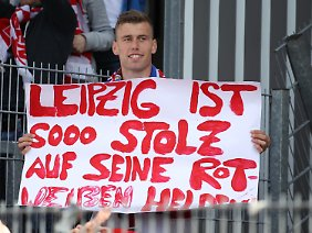 Stolz auf seine Helden: Leipziger Fan.
