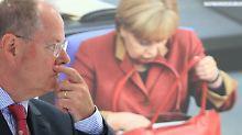 Herausforderer und Amtsinhaberin: Am 22. September will Peer Steinbrück die Kanzlerin ablösen.
