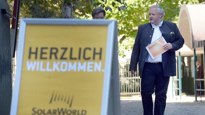 Der Vorstandsvorsitzende von Solarworld Frank Asbeck:Anleihegläubiger des schwer angeschlagenen Solarmodulherstellers stimmern dem Rettungskonzept mit großer Mehrheit zu.