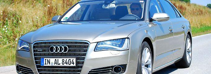 Der Audi A8 lang: eine Luxusyacht auf vier Rädern.