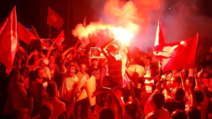 Viele Tunesier sind unzufrieden mit der islamistischen Regierung.