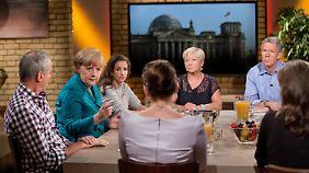 Reicht es für eine dritte Amtszeit? Die Wähler im RTL-Studio bewerteten den Auftritt der Kanzlerin überwiegend positiv.