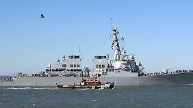 Die USA haben vier Zerstörer im östlichen Mittelmeer zusammengezogen, die jeweils mit Marschflugkörpern ausgestattet sind.