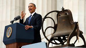 Gedenken an Martin Luther King: Obama prangert Ungleichheit von Schwarzen und Weißen an