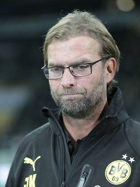 Zur Erinnerung, Herr Klopp: So bedient waren Sie nach dem 3:3 in Frankfurt in der vergangenen Saison.