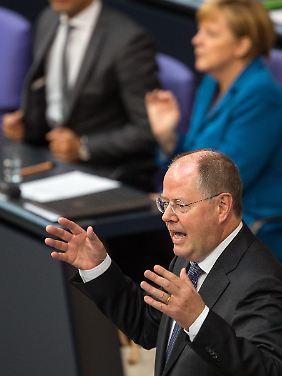 Steinbrück kostet den Zwist um die Pkw-Maut genüsslich aus.
