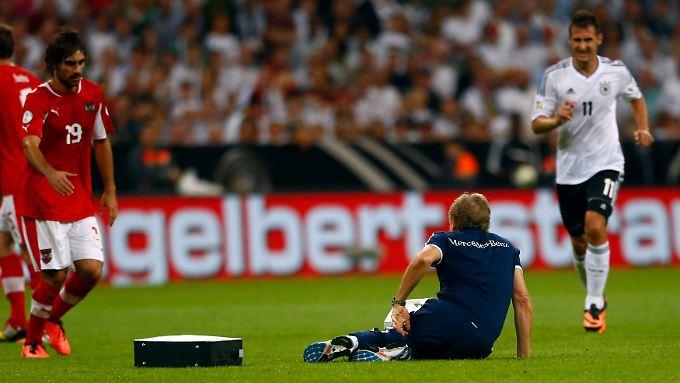 Nach seinem Sturz ging es für Klaus Eder nicht weiter.