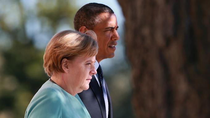 Kanzlerin Merkel macht es US-Präsident Obama nicht leicht. In St. Petersburg unterstützte sie ihn nicht.