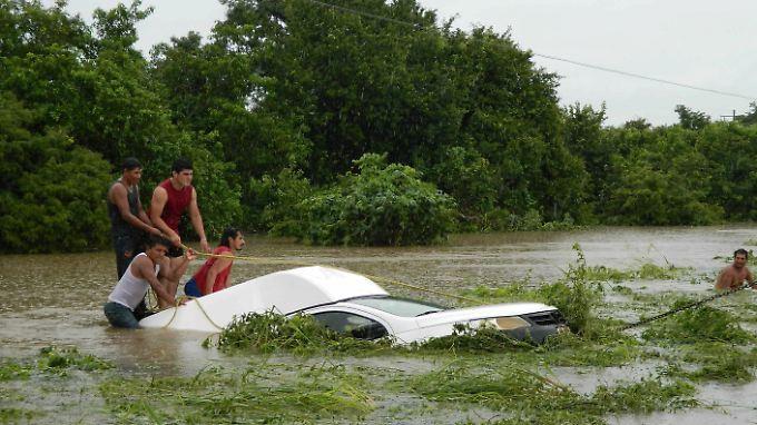 Überschwemmungen und Sturmböen haben Teile Mexikos verwüstet.
