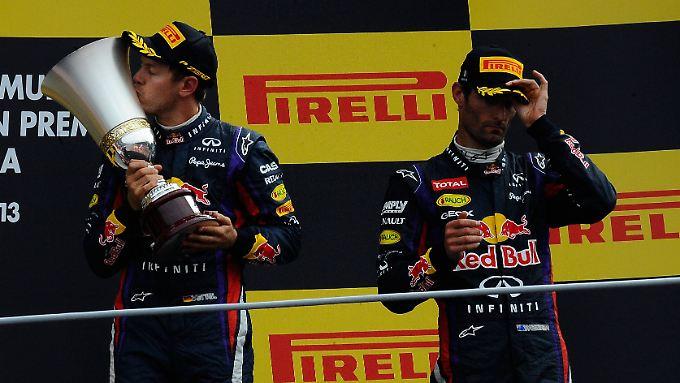 Die Stimmung zwischen den Teamkollegen Sebastian Vettel und Mark Webber ist seit Jahren unterkühlt.