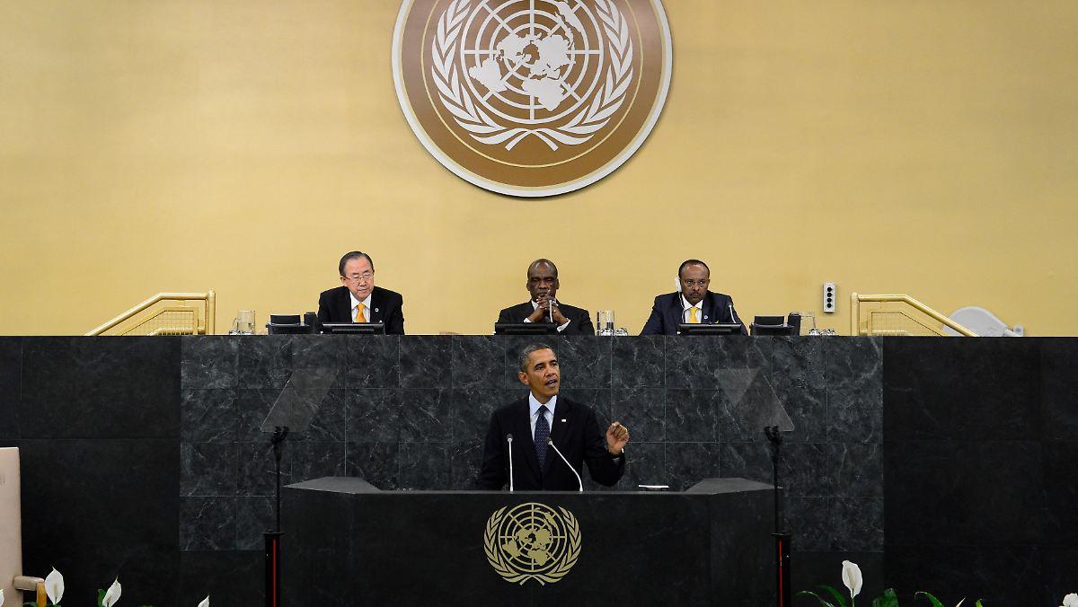Auftakt Der Un Vollversammlung Obama Setzt Im Nahen Osten