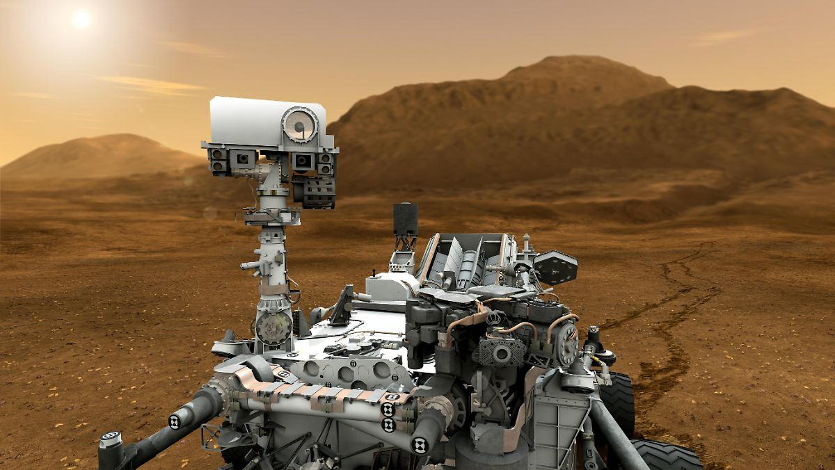 """""""Curiosity"""" findet überraschend viel Wasser"""