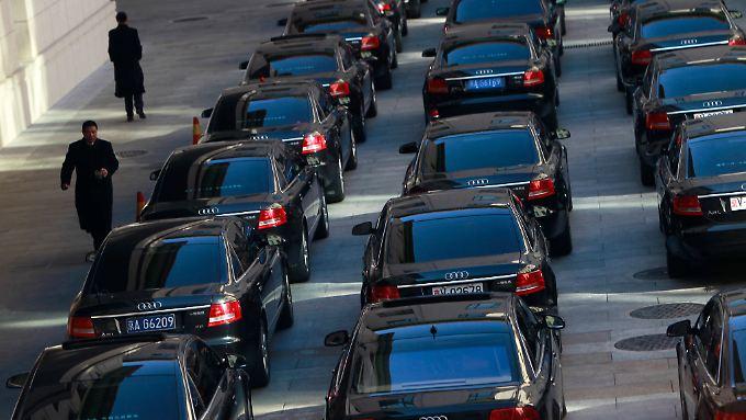 Deutsche Autobauer erfreuen sich in China großer Beliebtheit, so auch auf dem 18. Parteitag der Kommunistischen Partei im November 2012.