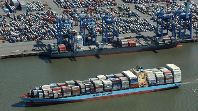 Die deutschen Exporte könnten von einem längeren politischen Stillstand in den USA betroffen sein.