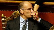Für Enrico Letta stand der Fortbestand seiner Regierungskoalition auf dem Spiel.