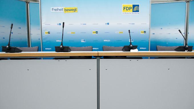 Der FDP-Fraktionssaal im Reichstag: dauerhaft leer.