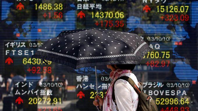 In Tokio dominieren positive Vorzeichen.