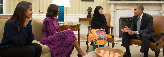 Malala wies auf die unschuldigen Opfer durch die Attacken hin.