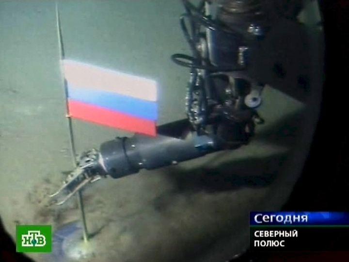 Russland hat bereits eine Fahne am Meeresboden unter dem Nordpol gesetzt.