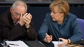 Gibt Merkel das Finanzressort her? Kaum denkbar.