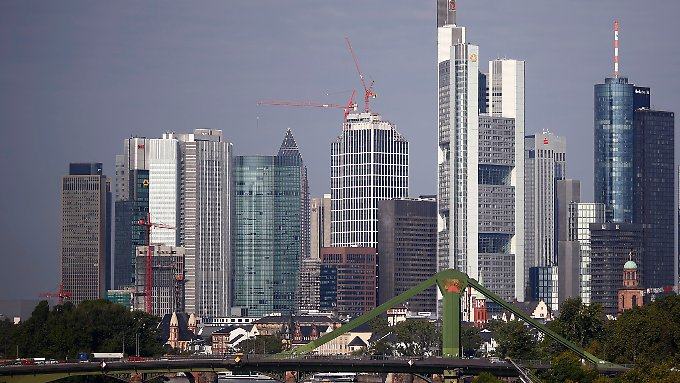 Bankentürme in Frankfurt.
